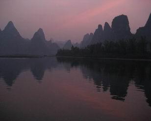 Sunset of Li River